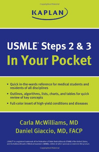 9781609788988: USMLE Steps 2 and 3: In Your Pocket