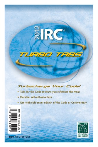 9781609831042: 2012 International Residential Code Turbo Tabs for Softcover Edition (International Code Council Series)