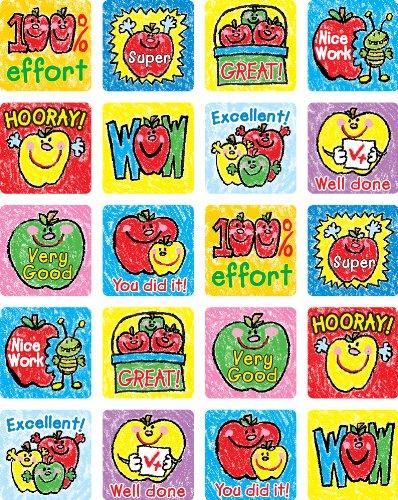 9781609960148: Apples: Kid-Drawn Motivational Stickers