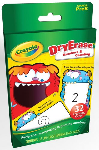 9781609961657: Dry Erase Numbers & Counting Learning Cards (Crayola)