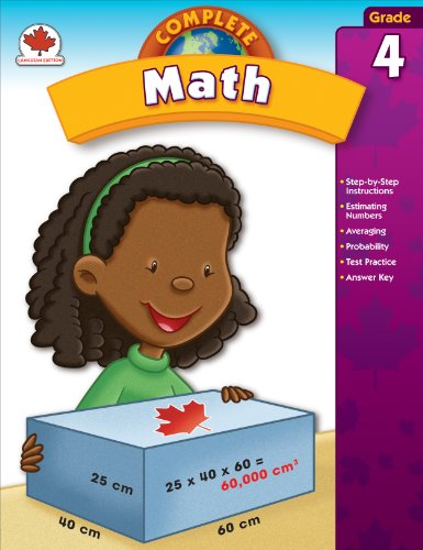 9781609961800: Complete Math, Grade 4: Canadian Edition (Total Math)