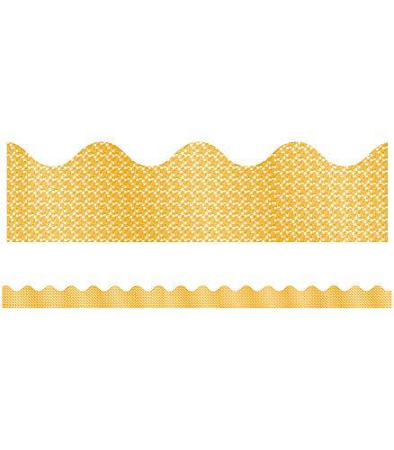 9781609962357: Yellow Sparkle Scalloped Border