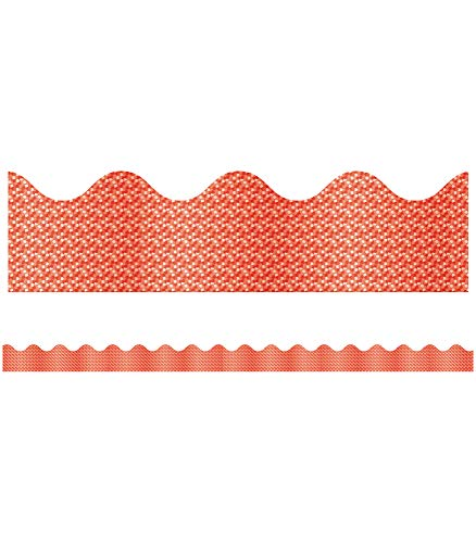 9781609962364: Red Sparkle Scalloped Border