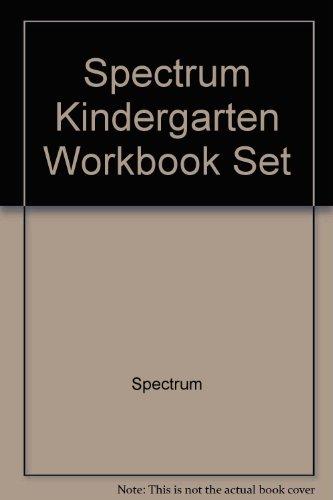 9781609968830: Spectrum Kindergarten Workbook Set