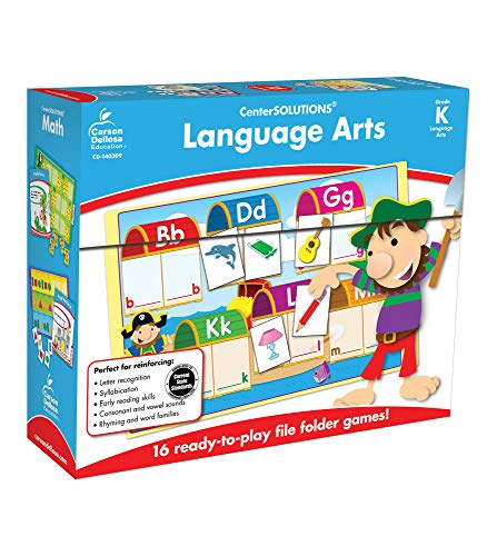 9781609969615: Language Arts File Folder Game, Grade K: File Folder Games