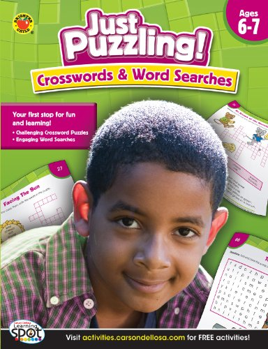 9781609969776: Crosswords & Word Searches, Grades 2 - 5 (Just Puzzling!)