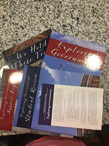 Notgrass Exploring Government Curriculum Package NEW Hardcover 2016 - Highschool: Ray Notgrass