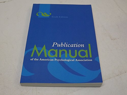 9781610619240: Publication Manual of the American Psychological Association, Sixth Edition