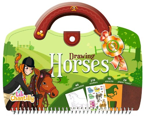 9781610670623: Drawing Horses [With Sticker(s) and Stencils] (Lili Chantilly)