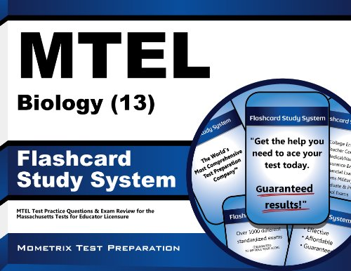 9781610720281: MTEL Biology (13) Flashcard Study System: MTEL Test Practice Questions & Exam Review for the Massachusetts Tests for Educator Licensure (Cards)