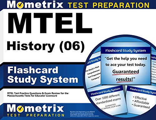 9781610720540: MTEL History (06) Flashcard Study System: MTEL Test Practice Questions & Exam Review for the Massachusetts Tests for Educator Licensure (Cards)