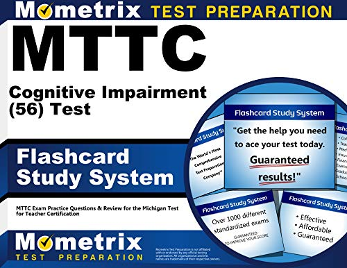 9781610720984: MTTC Cognitive Impairment (56) Test Flashcard Study System: MTTC Exam Practice Questions & Review for the Michigan Test for Teacher Certification (Cards)
