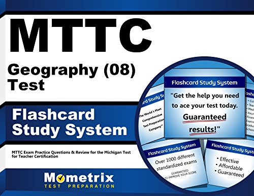 9781610721240: MTTC Geography (08) Test Flashcard Study System: MTTC Exam Practice Questions & Review for the Michigan Test for Teacher Certification (Cards)