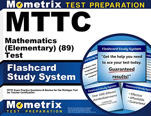9781610721479: MTTC Mathematics (Elementary) (89) Test Flashcard Study System: MTTC Exam Practice Questions & Review for the Michigan Test for Teacher Certification (Cards)