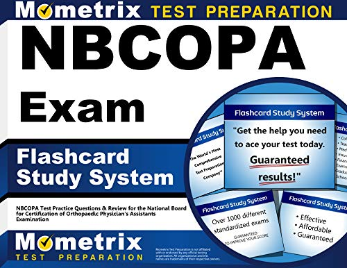 9781610721981: NBCOPA Exam Flashcard Study System: NBCOPA Test Practice Questions & Review for the National Board for Certification of Orthopaedic Physician's Assistants Examination (Cards)
