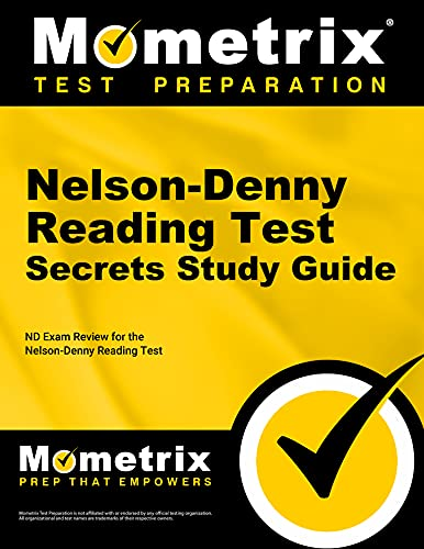 9781610722483: Nelson-Denny Reading Test Secrets Study Guide: ND Exam Review for the Nelson-Denny Reading Test