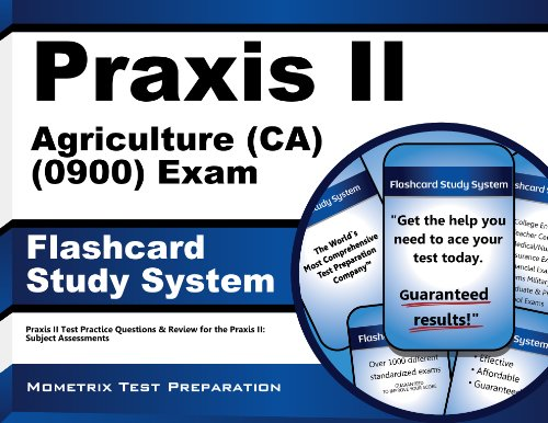 9781610725859: Praxis II Agriculture (CA) (0900) Exam Flashcard Study System: Praxis II Test Practice Questions & Review for the Praxis II: Subject Assessments (Cards)