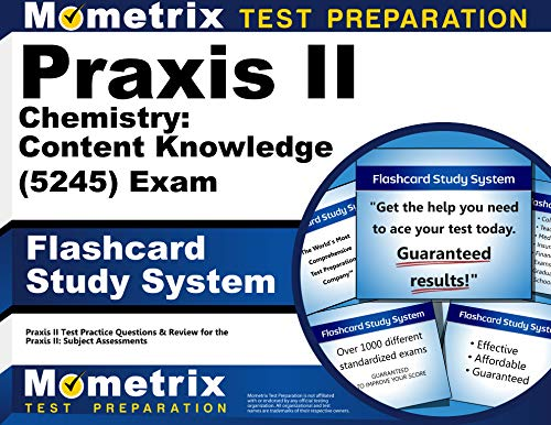 9781610726122: Praxis II Chemistry: Content Knowledge (5245) Exam Flashcard Study System: Praxis II Test Practice Questions & Review for the Praxis II: Subject Assessments (Cards)