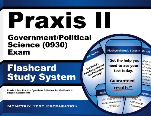 9781610726689: Praxis II Government/Political Science (0930) Exam Flashcard Study System: Praxis II Test Practice Questions & Review for the Praxis II: Subject Assessments (Cards)