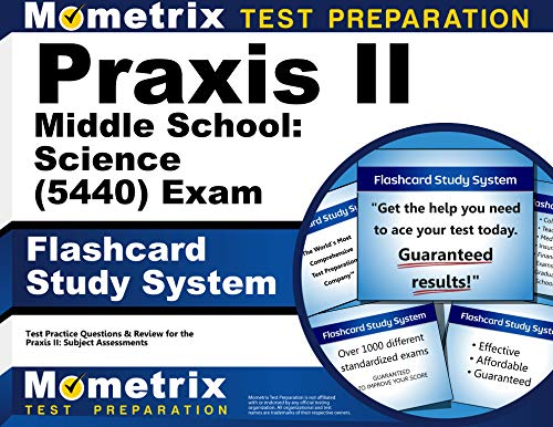 9781610726931: Praxis II Middle School Science (5440) Exam Flashcard Study System: Praxis II Test Practice Questions and Review for the Praxis II Subject Assessments