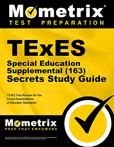 9781610729833: TExES Special Education Supplemental (163) Secrets Study Guide: TExES Test Review for the Texas Examinations of Educator Standards