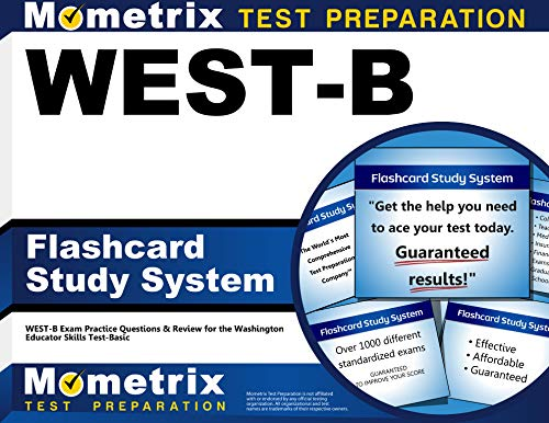 9781610730198: WEST-B Flashcard Study System: WEST-B Exam Practice Questions & Review for the Washington Educator Skills Test-Basic (Cards)