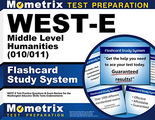 9781610730457: WEST-E Middle Level Humanities (010/011) Flashcard Study System: WEST-E Test Practice Questions & Exam Review for the Washington Educator Skills Tests-Endorsements (Cards)