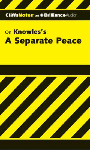 A Separate Peace (Cliffs Notes Series): Higgins Ph.D., Charles; Higgins Ph.D., Regina