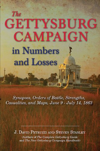 9781611210804: The Gettysburg Campaign in Numbers and Losses: Synopses, Orders of Battle, Strengths, Casualties, and Maps, June 9 - July 14, 1863