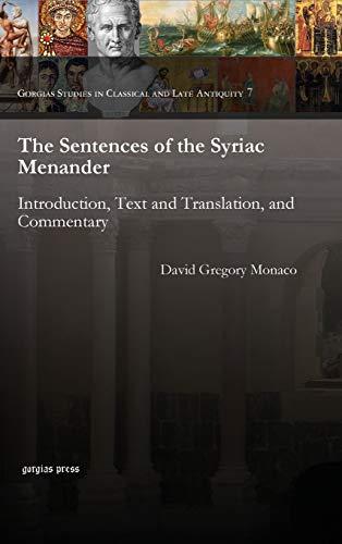 The Sentences of the Syriac Menander: Monaco, David