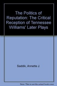 9781611471625: The Politics of Reputation: The Critical Reception of Tennessee Williams' Later Plays