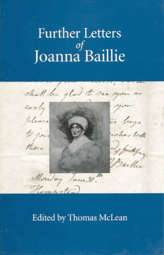 Further Letters of Joanna Baillie: Fairleigh Dickinson University Press