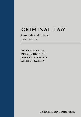 9781611630138: Criminal Law: Concepts and Practice, Third Edition (Carolina Academic Press: Law Advisory Broad)