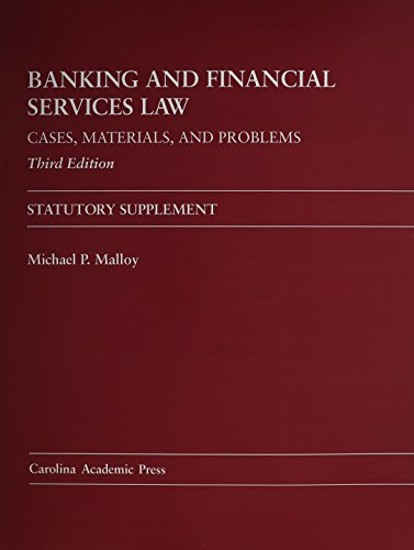 9781611631012: Banking and Financial Services Law: Cases, Materials, and Problems