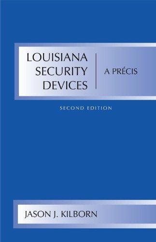 9781611631838: Louisiana Security Devices: A Precis