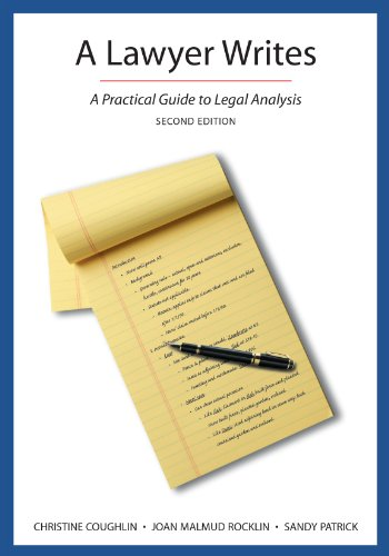 9781611633979: A Lawyer Writes: A Practical Guide to Legal Analysis, Second Edition