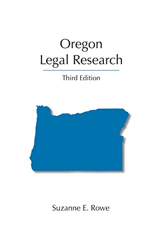 9781611634969: Oregon Legal Research, Third Edition