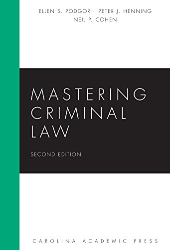 9781611635492: Mastering Criminal Law, Second Edition (Carolina Academic Press Mastering)