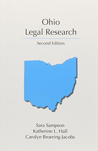 9781611637496: Ohio Legal Research, Second Edition (Carloina Academic Press Legal Research)