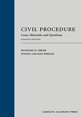 9781611639117: Civil Procedure: Cases, Materials, and Questions, Seventh Edition