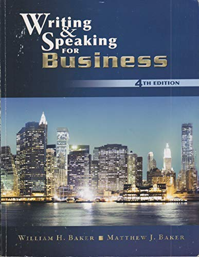 9781611650211: Writing and Speaking for Business