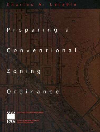 9781611900446: Preparing a Conventional Zoning Ordinance