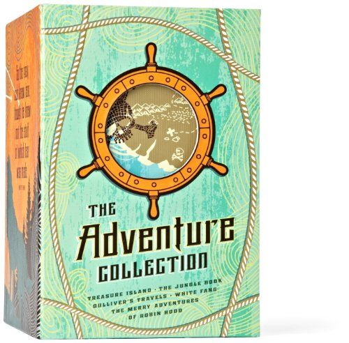 9781612184166: The Adventure Collection: Treasure Island, The Jungle Book, Gulliver's Travels, White Fang, The Merry Adventures of Robin Hood (The Heirloom Collection)