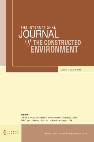 9781612290171: The International Journal of the Constructed Environment: Volume 1, Issue 3