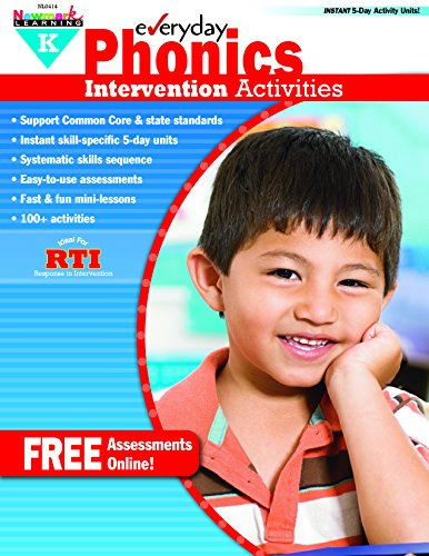NEWMARK LEARNING NL-0414 K Intervention Activities Aid Everyday for Phonics Grade K (9781612691428) by [???]
