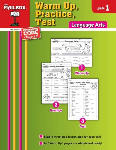 9781612762616: Warm Up, Practice, Test: Language Arts (Gr. 1)