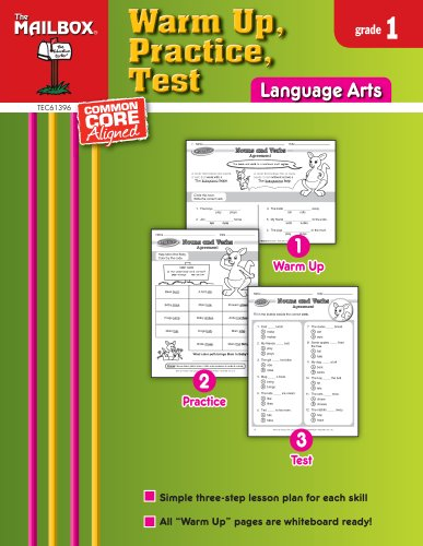 9781612762616: Warm Up, Practice, Test: Language Arts (Gr. 1)