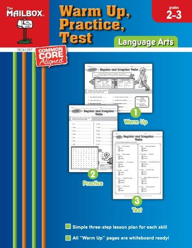 9781612762623: Warm Up, Practice, Test: Language Arts (Grs. 2-3)