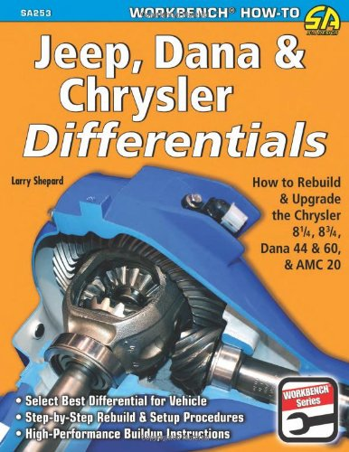 Jeep, Dana & Chrysler Differentials: How to Rebuild the 8-1/4, 8-3/4, Dana 44 & 60 & AMC 20 (Workbench How to) (1613250495) by Shepard, Larry