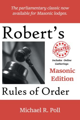 9781613422311: Robert's Rules of Order: Masonic Edition